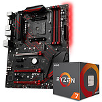 AMD Ryzen 7 2700X Wraith Prism Edition (3.7 GHz) + MSI X470 GAMING PLUS pas cher