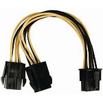 Nedis Adaptateur d'alimentation 2x PCI-Express 6 broches vers P8 pas cher