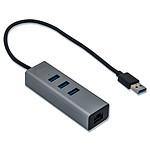 i-tec USB 3.0 Metal Hub 3 Ports - Gigabit Ethernet pas cher