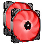 Corsair Air Series AF140 Low Noise - Rouge (par 2) pas cher