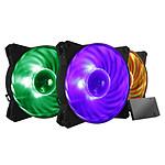 Cooler Master Masterfan Pro 120 Air Balance RGB (Pack de 3 + contrôleur LED RGB) pas cher
