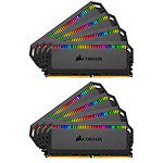 Corsair Dominator Platinum RGB 64 Go (8x 8Go) DDR4 4000 MHz CL19 pas cher