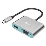 i-tec Adaptateur Metal USB-C vers HDMI et VGA pas cher