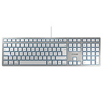 Cherry KC 6000 Slim for Mac (argent) pas cher