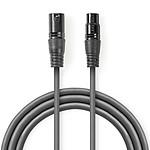 Nedis Câble XLR Symétrique M/F (0.5m) pas cher