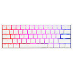 Ducky Channel One 2 Mini RGB Blanc (Cherry MX RGB Speed Silver) pas cher