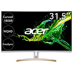 "Acer 31.5"" LED - ED323QURwidpx - Blanc pas cher"