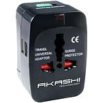 Akashi Adaptateur Universel de voyage 150 Pays avec 2 ports USB pas cher