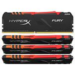 HyperX Fury RGB 64 Go (4x 16 Go) DDR4 3600 MHz CL17 pas cher