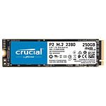 Crucial P2 M.2 PCIe NVMe 250 Go pas cher