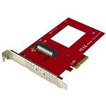 StarTech.com Carte contrôleur U.2 vers PCIe pour SSD U.2 NVMe - SFF-8639 - PCI Express 3.0 x4 pas cher