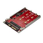 """StarTech.com Adaptateur pour 2 disques SSD M.2 vers SATA dans baie de 2,5"""" - RAID pas cher"""