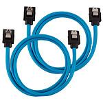 Corsair Câbles SATA gainés 60 cm (coloris bleu) pas cher