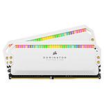 Corsair Dominator Platinum RGB 32 Go (2 x 16 Go) DDR4 3200 MHz CL16 - Blanc pas cher