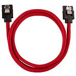 Corsair Câble SATA gainé Premium 60 cm (coloris rouge) pas cher