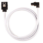 Corsair Câble SATA gainé Premium 60 cm connecteur coudé (coloris blanc) pas cher