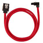 Corsair Câble SATA gainé Premium 60 cm connecteur coudé (coloris rouge) pas cher