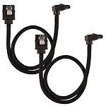 Corsair Câble SATA gainé Premium 30 cm connecteur coudé (coloris noir) pas cher