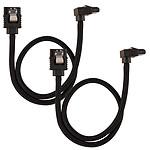 Corsair Câble SATA gainé Premium 60 cm connecteur coudé (coloris noir) pas cher