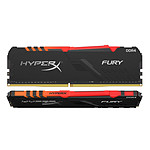 HyperX Fury RGB 64 Go (2 x 32 Go) DDR4 3000 MHz CL16 pas cher