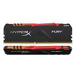 HyperX Fury RGB 64 Go (2 x 32 Go) DDR4 3600 MHz CL18 pas cher