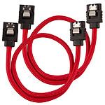 Corsair Câble SATA gainé Premium 30 cm (coloris rouge) pas cher