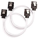 Corsair Câble SATA gainé Premium 30 cm (coloris blanc) pas cher
