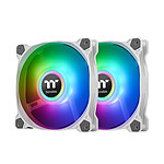 Thermaltake Pure Duo A12 ARGB Radiator Fan x 2 - Blanc pas cher