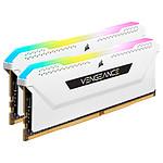 Corsair Vengeance RGB PRO SL Series 32 Go (2 x 16 Go) DDR4 3200 MHz CL16 - Blanc pas cher