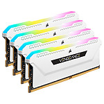 Corsair Vengeance RGB PRO SL Series 32 Go (4 x 8 Go) DDR4 3200 MHz CL16 - Blanc pas cher