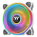 Thermaltake Riing Quad 12 RGB Radiator Fan TT Premium Edition Single Fan Blanc pas cher