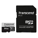 Transcend MicroSDXC 330S 64 Go + Adaptateur SD pas cher