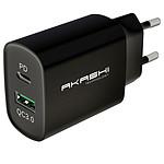 Akashi Chargeur Secteur 20W USB-A Quick Charge 3.0 Noir pas cher