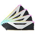 Corsair Vengeance RGB RT 32 Go (4 x 8 Go) DDR4 3600 MHz CL18 - Blanc pas cher