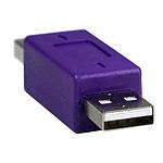 Adaptateur USB 2.0 type A mâle / A mâle pas cher