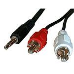 Câble audio Jack 3.5 mm stéréo mâle / 2 RCA mâles (1.5 mètre) pas cher
