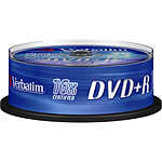 Verbatim DVD+R 4.7 Go 16x (par 25, spindle) pas cher