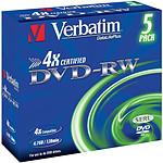 Verbatim DVD-RW 4.7 Go 4x (par 5, boite) pas cher