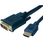 Câble DVI-D Single Link mâle / HDMI mâle (5 mètres) pas cher