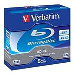 Verbatim BD-RE 25 Go 2x (par 5, boite) pas cher