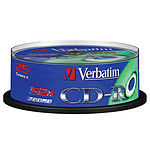 Verbatim CD-R 700 Mo 52x (spindle de 25) pas cher