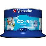 Verbatim CD-R 700 Mo certifié 52x imprimable (pack de 50, spindle) pas cher