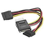 Adaptateur d'alimentation SATA vers 2 connecteurs d'alimentation SATA + 1 Molex pas cher
