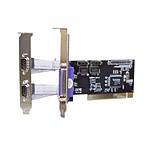 Carte contrôleur PCI double slot avec 2 ports RS-232 (DB-9) et 1 port parallèle (DB-25) pas cher