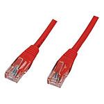 Câble RJ45 catégorie 5e U/UTP 0.5 m (Rouge) pas cher