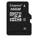 Kingston microSDHC 16 GB Class 4 pas cher