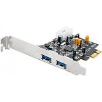 Carte contrôleur PCI-Express 1x avec 2 ports USB 3.0 (Low Profile) pas cher