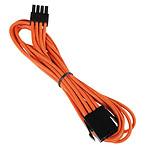 BitFenix Alchemy Orange - Extension d'alimentation gainée - EPS12V 8 pins - 45 cm pas cher