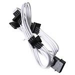 BitFenix Alchemy White - Câble d'alimentation gainé - Molex vers 4x SATA - 20 cm pas cher