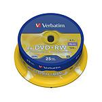 Verbatim DVD+RW 4.7 Go certifié 4x (pack de 25, spindle) pas cher